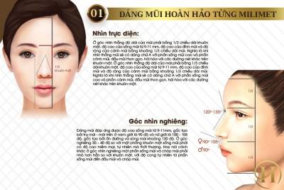 Bảng mô tả 2 góc nhìn hoàn hảo của dáng mũi Medi Form