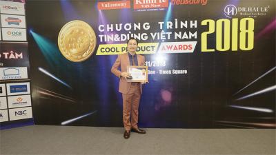 """Dr.Hải Lê nhận danh hiệu """"Tin và Dùng"""" 2018"""