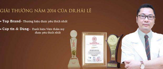Năm 2014, Dr.Hải Lê đạt giải thưởng thương hiệu được yêu thích nhất