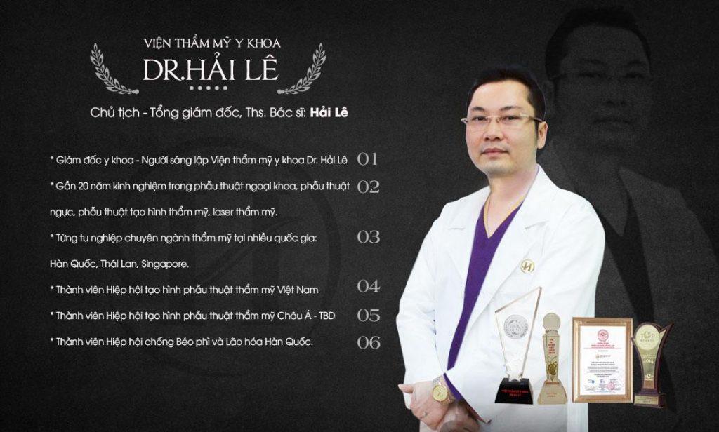Bác sĩ Hải Lê người sáng lập VTM Y Khoa Dr.Hải Lê